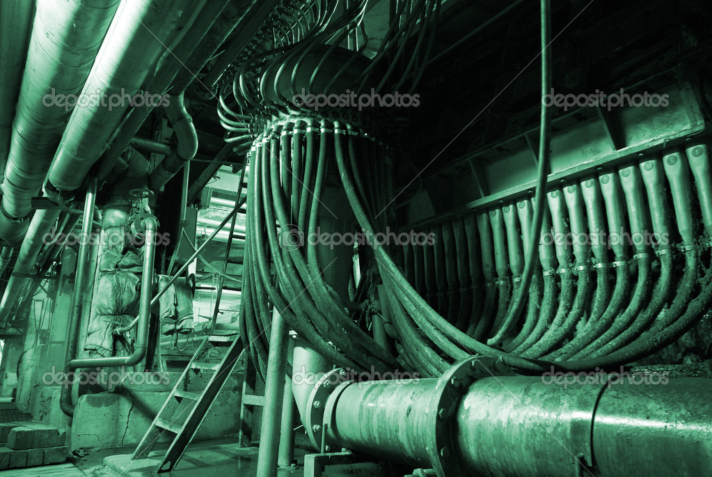 Equipment, cables and piping        — Stock Photo #6919180