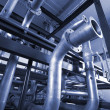 Stockfoto: Different size and shaped pipes at power plant