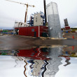 Construction site, new bio fuel power plant with reflection — Stock fotografie #6929136