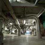 Industrial zone, Steel pipelines — Stock Photo