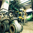 Stock Photo: Industrial zone, Steel pipelines