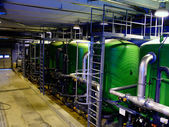 Water treatment tanks on power plant — Stock fotografie