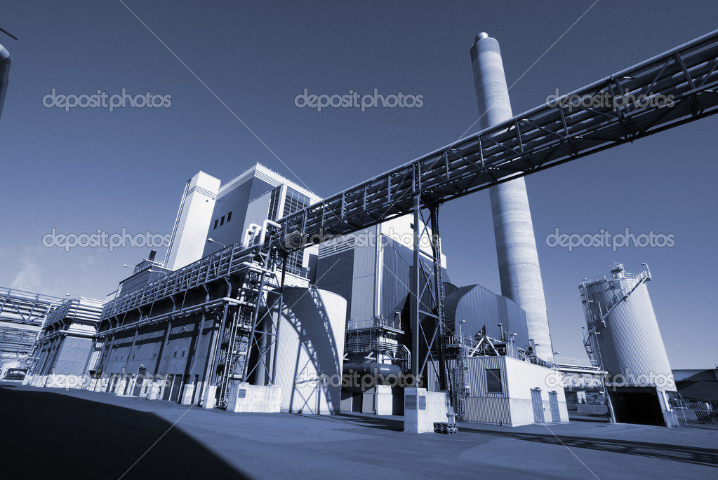 Modern industrial factory in blue tone               — Stock Photo #6932694