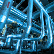 Pipes, tubes, machinery and steam turbine at a power plant — Stock Photo #6949507