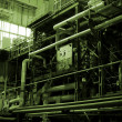 Pipes inside energy plant — Stock Photo