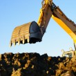 Stock Photo: Hydraulic excavator at work
