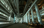 Pipes, tubes at a power plant — Stock Photo