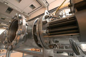 Pipes inside eneergy plant — Stock Photo