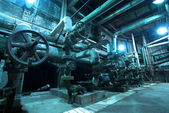 Pipes inside energy plant — Foto Stock