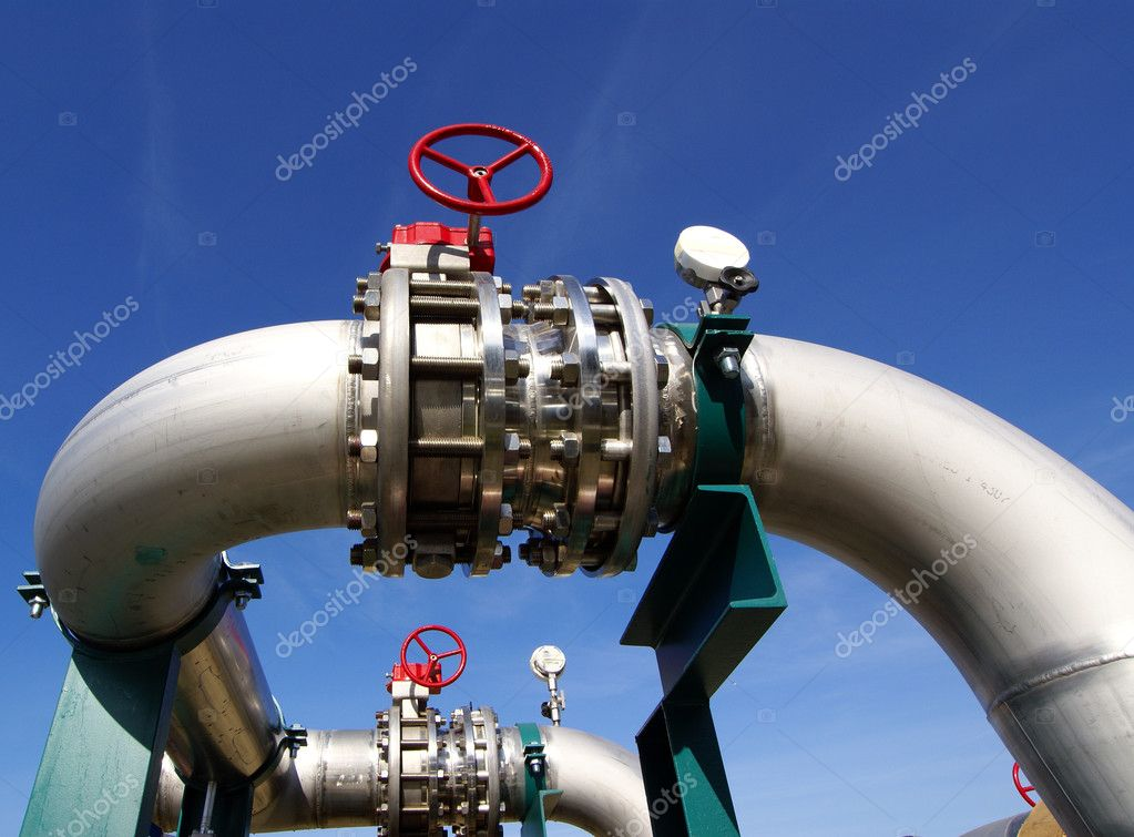 New equipment at power plant — Stock Photo #7489240