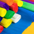 Stock Photo: Colored bundles of crepe paper