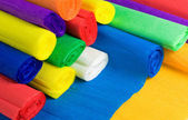 Colored bundles of crepe paper — Stockfoto