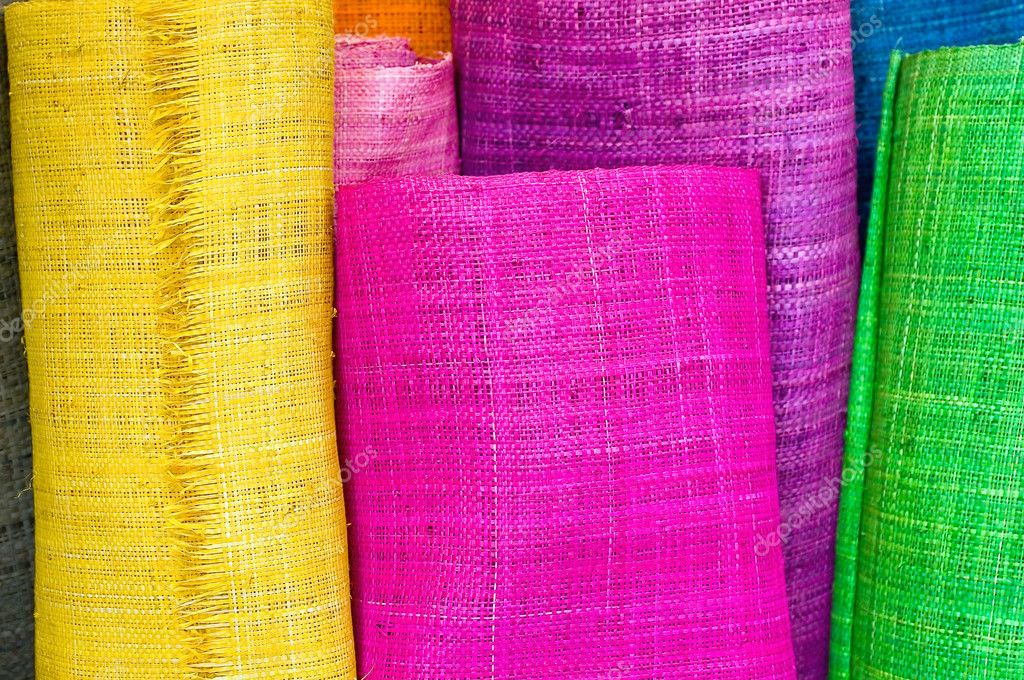 Colorful textile rolls — Stock Photo #6925527