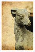 Stone dog — Stock Photo