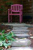 Krzesło w ogrodzie — Stock Photo