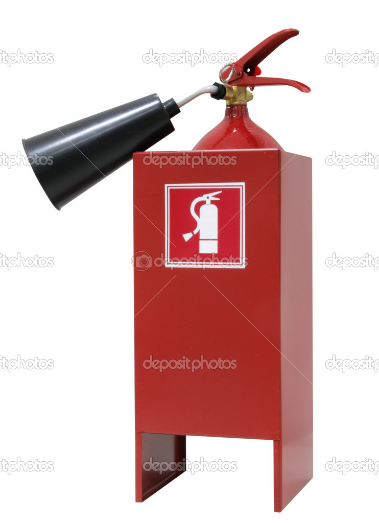 The red fire extinguisher on white — Stock Photo #6904229