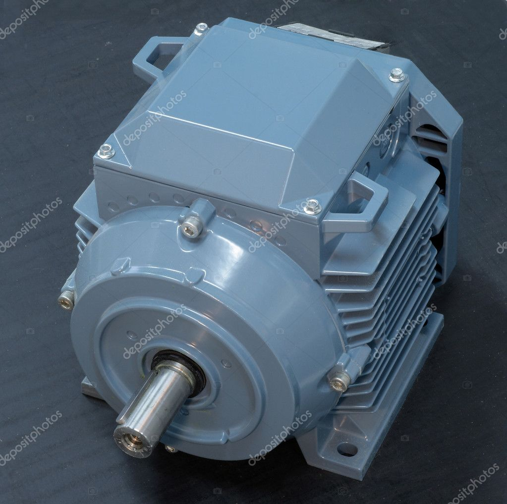Big electric motor isolated on white — Stock Photo #6904235