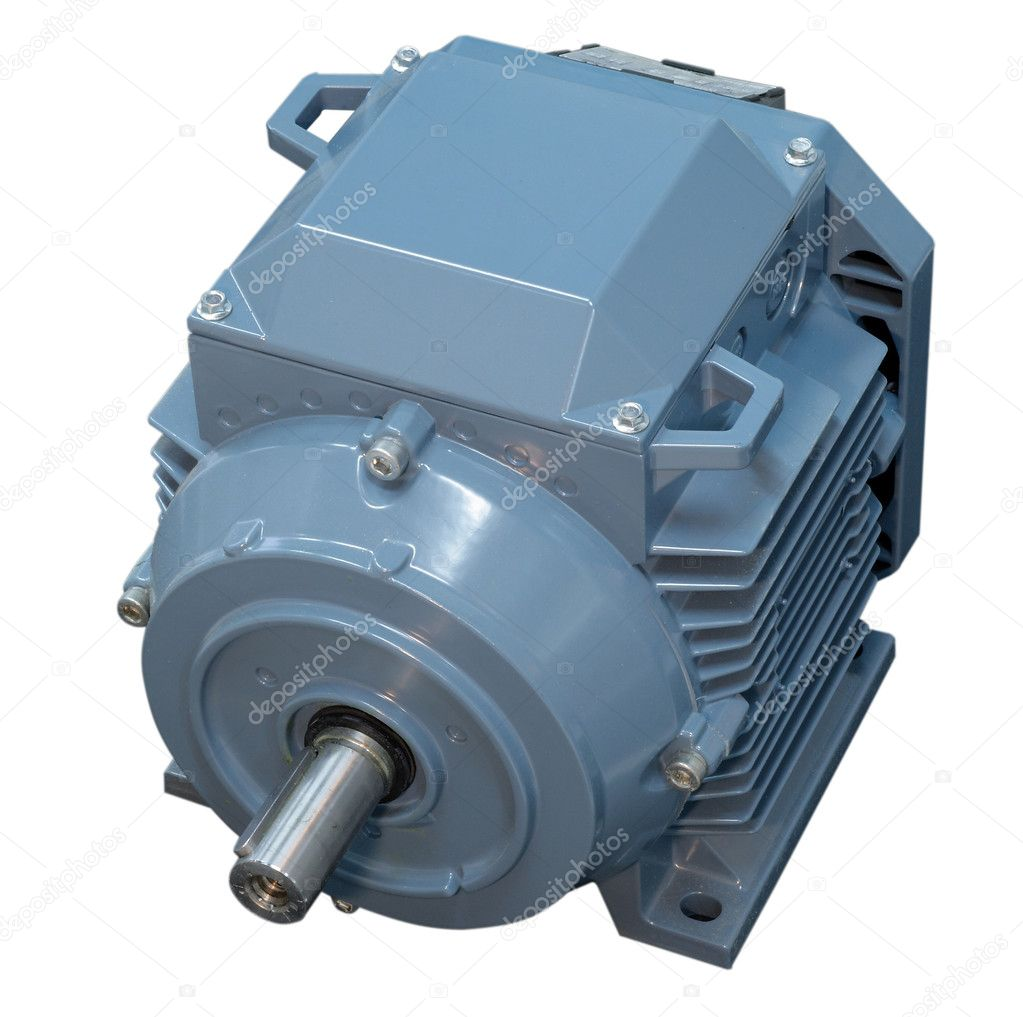 Big electric motor for conditioner fan isolated — Foto Stock #6904237