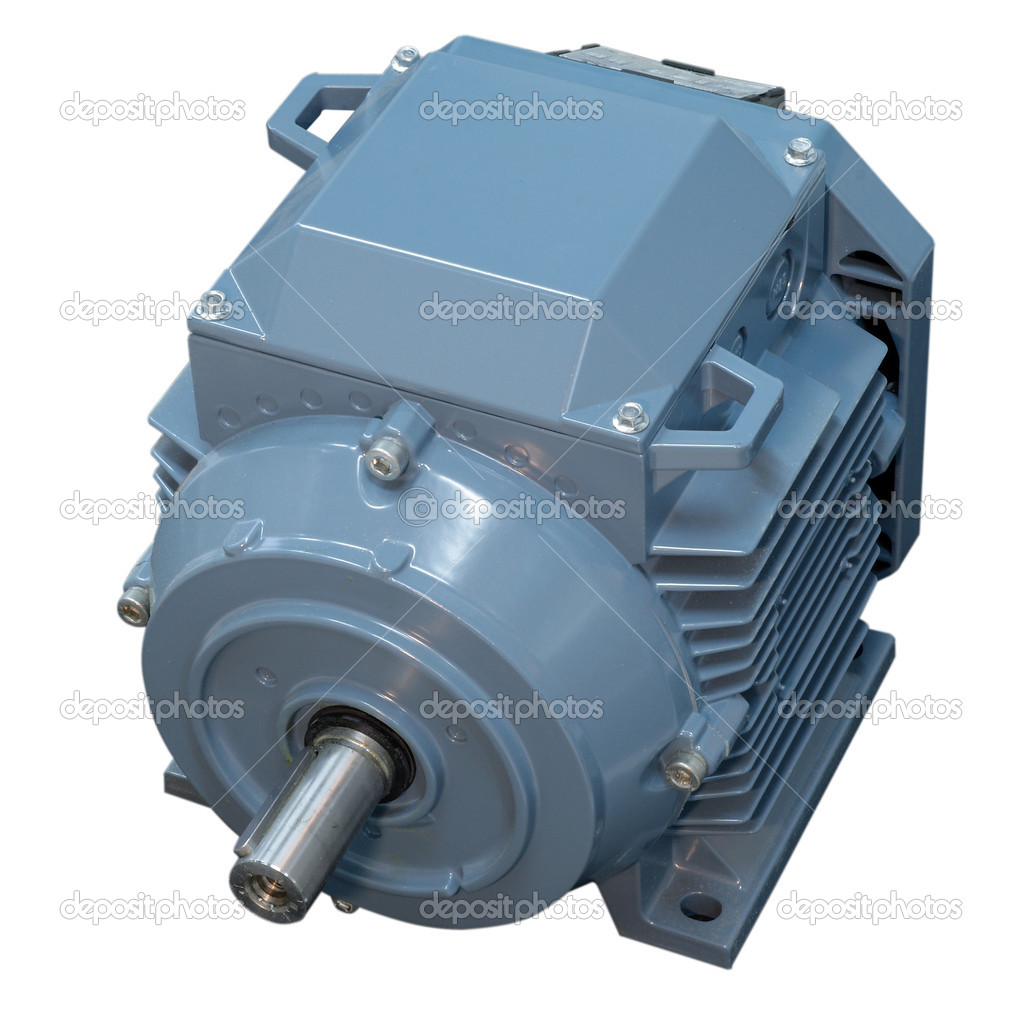 Big electric motor for conditioner fan isolated — Foto de Stock   #6904237