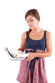 若い女性の勉強 — ストック写真