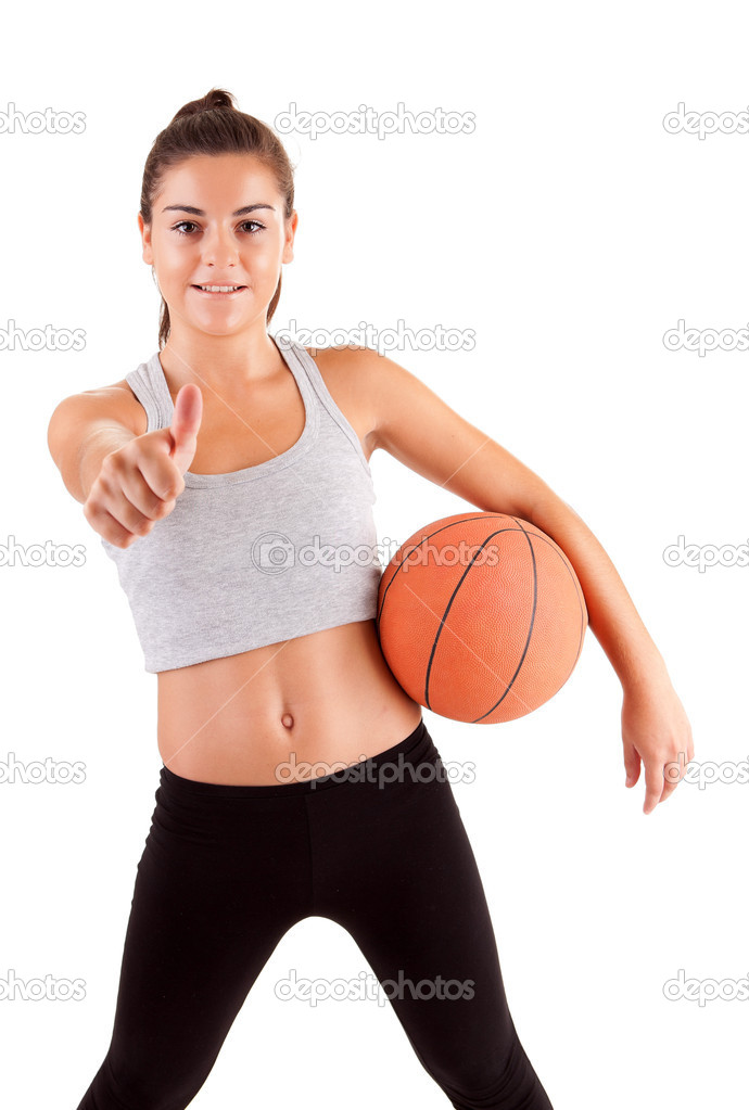 Young fitness instructor, isolated over a white background — Stock Photo #6921312