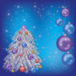 Christmas  background with christmas fir-tree — Stockvectorbeeld