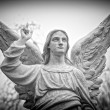 Angel_09_Black_And_White - Stock Photo