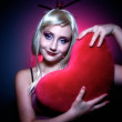 Heart becomes her 03 — Stock Photo