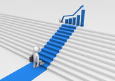 Staircase to success — Stock Photo