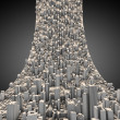 Abstract curved city — Stock Photo