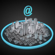 Stock Photo: Abstract internet city