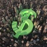 Dollar city — Stock Photo