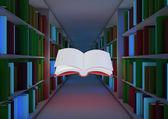 Magiczna biblioteka koncepcji — Zdjęcie stockowe