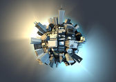 City planet — Stock Photo