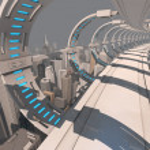 Futuristic city bridge — Stock Photo