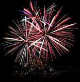 Fireworks in the fallas of valencia (spain) — Stock Photo