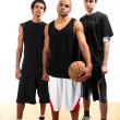 Royalty-Free Stock Photo: Three basketball players