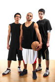 Three basketball players — Stock Photo