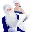 Father Frost and snow maiden — Stock Photo #7466867
