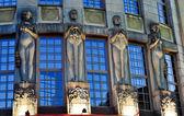 четыре статуи — Стоковое фото