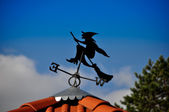 A witch on a broomstick — Stock Photo