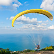 Yellow paraglide — Stock Photo