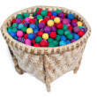 Royalty-Free Stock Photo: Colorful bobbles in the basket