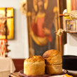 Bread in church — Stock Photo #7908888