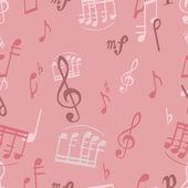 Muster mit musik — Stockvektor