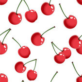 Seamless pattern with cherries — Stockvektor