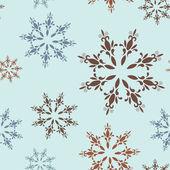 Kar taneleri ile seamless modeli — Stok Vektör