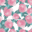 Seamless pattern with roses - Vektorgrafik