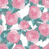 Seamless pattern with roses — Stockvektor