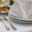 Forks and napkins - Stock Photo